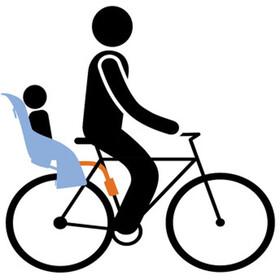 Thule RideAlong Fahrrad-Kindersitz Hellgrau
